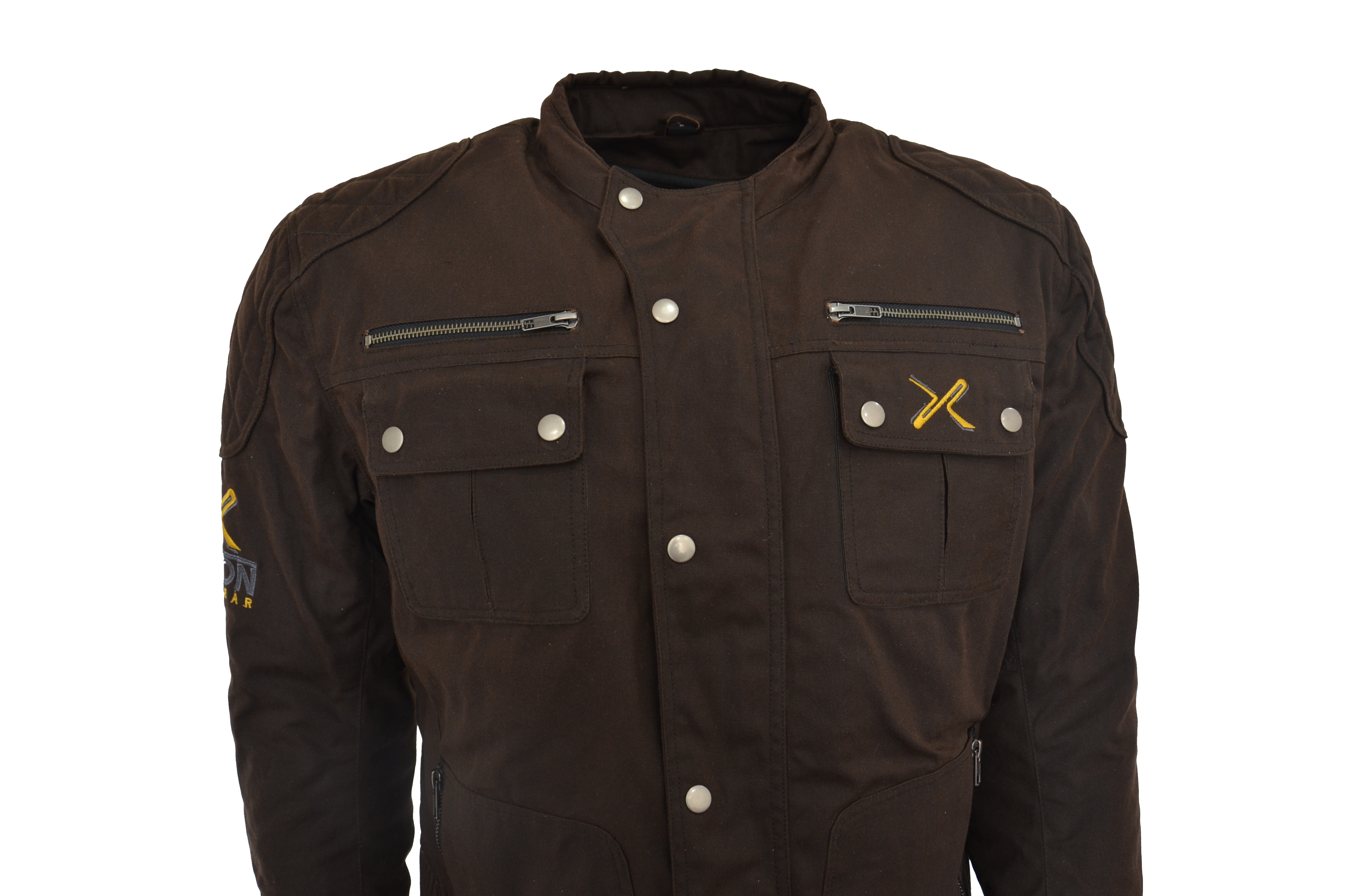 Motorcycle Ce Armour Shoulder Cotton Waxed Biker Lined