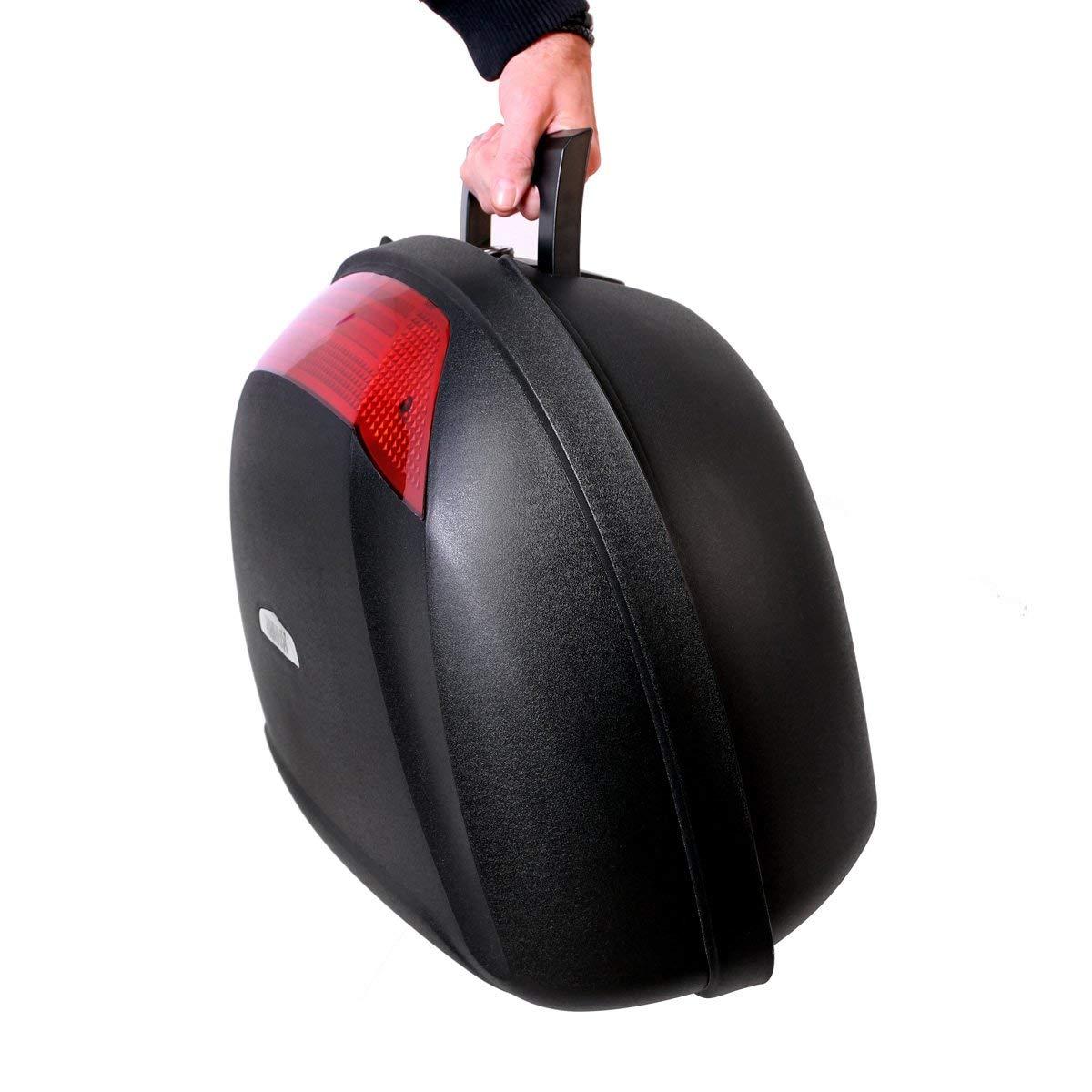 moto universel top case 52l 2 arri res casque valise arri re rangement moto ebay. Black Bedroom Furniture Sets. Home Design Ideas